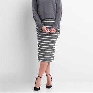 GAP striped sweater ribbed midi pencil skirt